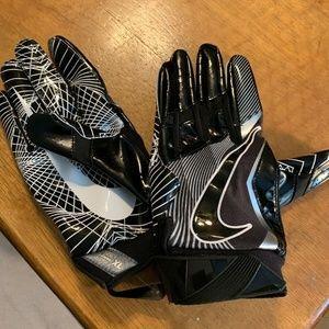 Nike Vapor Jet 4.0 Football Gloves Black White XL